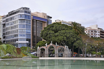 Spain Square in Santa Cruz de Tenerife. Canary Islands. Spain