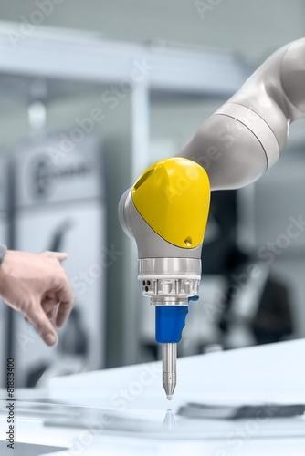 Robotic arm closeup photo - 81833400