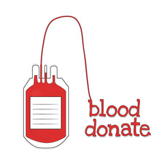 blood donate with red word