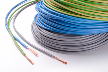 Electric cables: phase, neutral, ground
