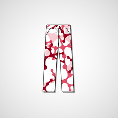 Abstract illustration on pants