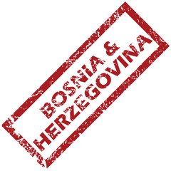New Bosnia and Herzegovina rubber stamp