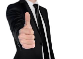 Business man show ok sign