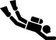 Scuba Diver Pictogram - 81834680