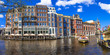 canals of Amsterdam.Panoramic image