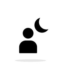 Night portrait simple icon on white background.