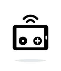 Tablet remote controller simple icon on white background.