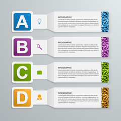 Abstract 3d paper infographic elements.
