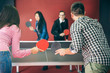 Couples playing ping pong - 81836864