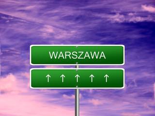 Warszawa City Poland Sign