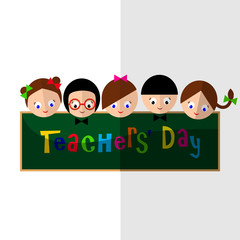 Vector illustration - happy teachers difference teachers contrib