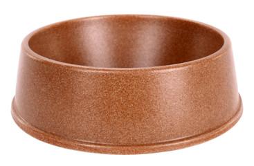 Pet dog bowl brown