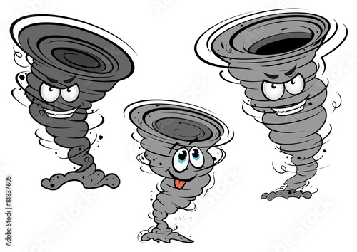 Cartoon tornado and cyclone characters - 81837605