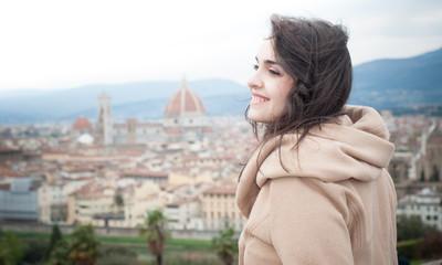 beautiful girl in firenze