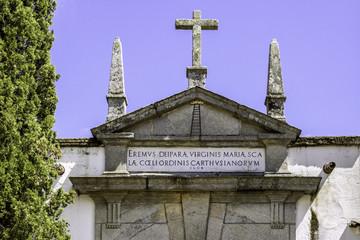 Entry detail of Convent of Santa Maria Scala Coeli