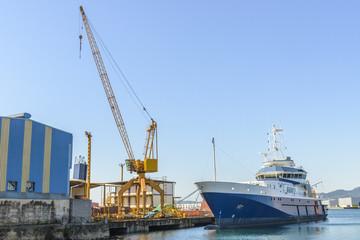ship loading at the port