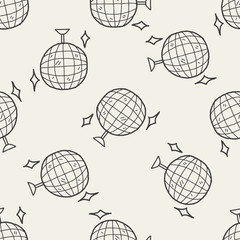 doodle party seamless pattern background