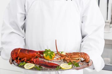 Preparing lobsters