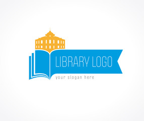 library logo bookmark