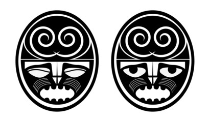 maori masks