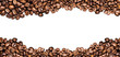 canvas print picture - coffee beans ioslated