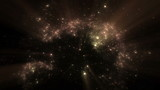 Deep space and nebula with rays of light, universe,