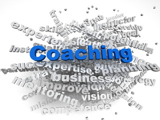 3d image Coaching  issues concept word cloud background