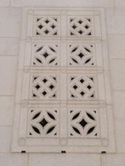 ロサンゼルス シティーホール 壁のブロック装飾