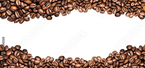 canvas print picture coffee beans ioslated