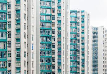 Abstract angle of Hong Kong housing, Asia