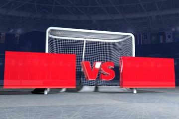 VS game hockey 3d image