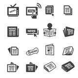 newspeper icon set