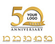 anniversary element gold logo - 81843491