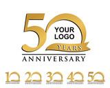 anniversary element gold logo