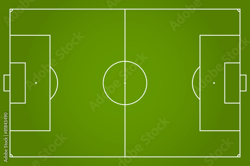 soccer field vector illustration - 81843490