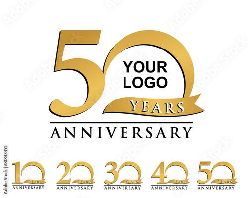 logo złotej rocznicy elementu