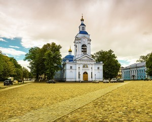 Church in the city of Vyborg, Russia