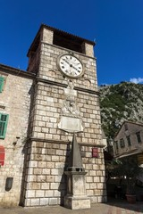 Clock Tower at the Armory Square Kotor, Montenegro