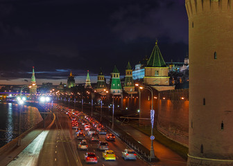 Moscow Kremlin, Russia (night view)