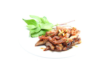 Charcoal-boiled pork neck