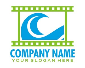 film wave logo image vector