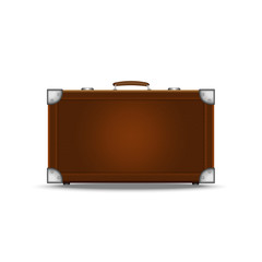 Vector Travel Suitcase isolated on white