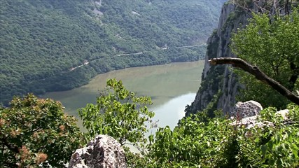 Beautiful landscape on the Danube Gorge.