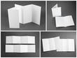 blank white folding paper flyer - 81845663