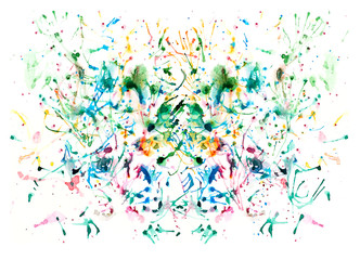 Splash watercolor colorful background.