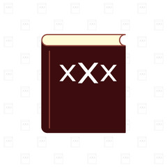 XXX book with pattern background vector illustration