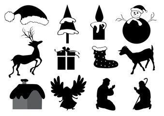 Vector illustration of a christmas Collection