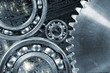cogwheels and gears being calibrated by computer part
