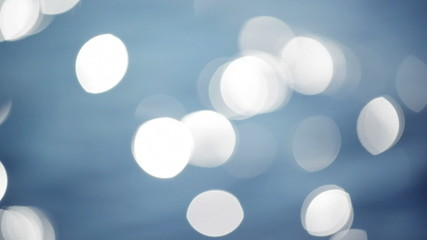 Abstract Water Surface Bokeh with Waves And Light Particles