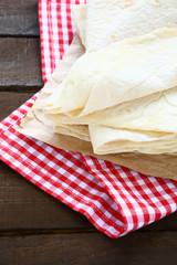 Pitas on a napkin